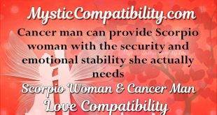 Are scorpio woman and cancer man compatible