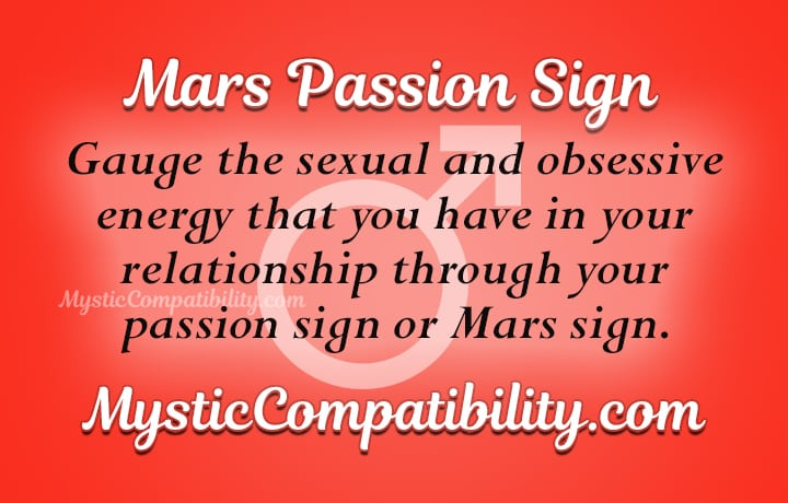 Mars Passion Sign - Mystic Compatibility