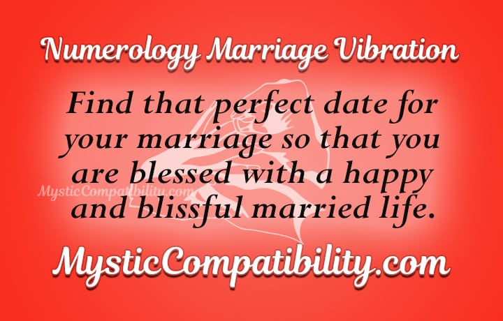 Numerology Marriage Vibration - Mystic Compatibility