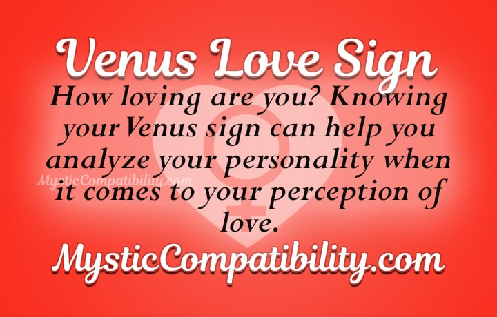 Venus love sign