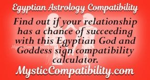 Egyptian Astrology Compatibility