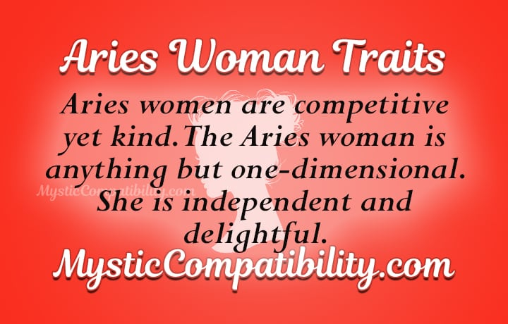 aries woman personality traits