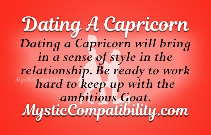 dating capricorn