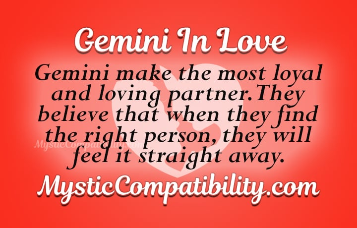 gemini in love