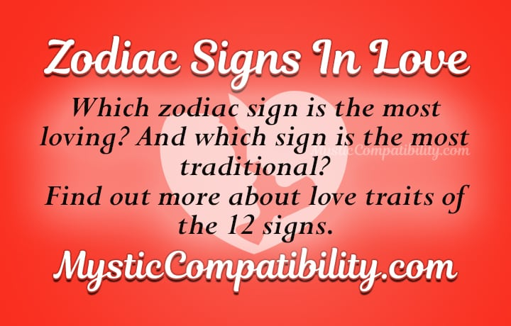 love by zodiac sign