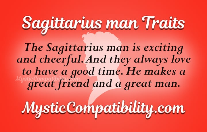 what is a sagittarius man like in love