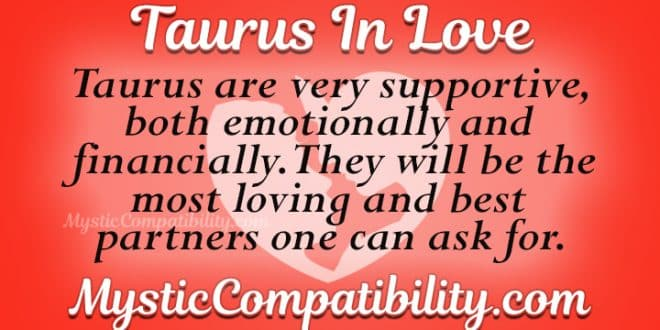 how to know a taurus man is in love