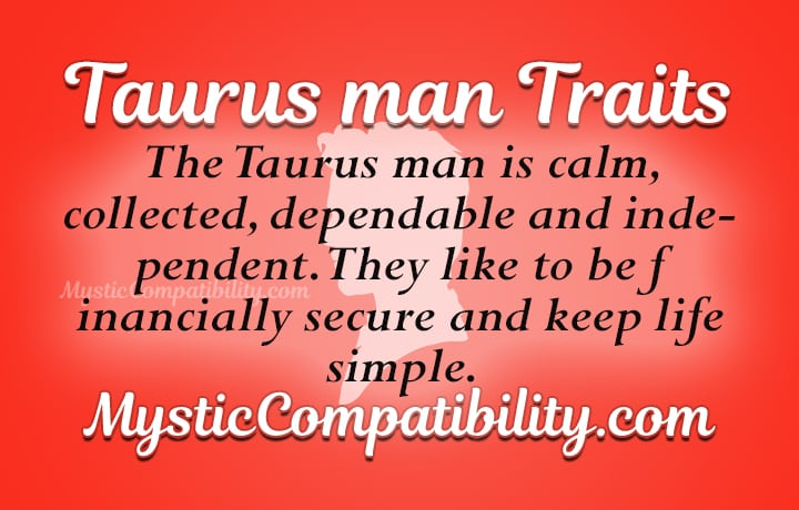 Taurus male personality traits