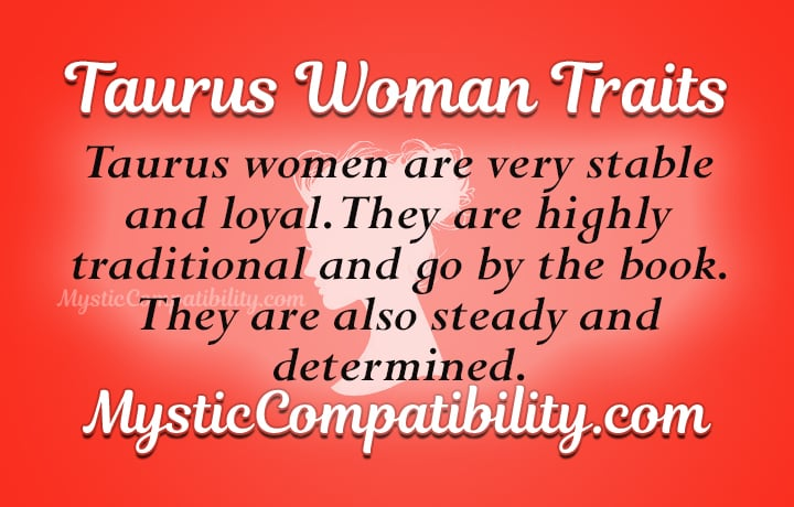 taurus woman personality traits