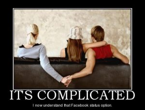 It's complicated status