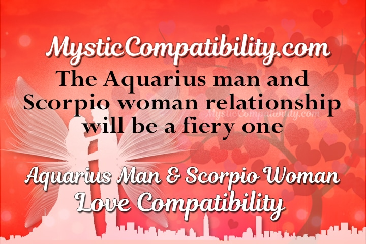 aquarius male and scorpio woman