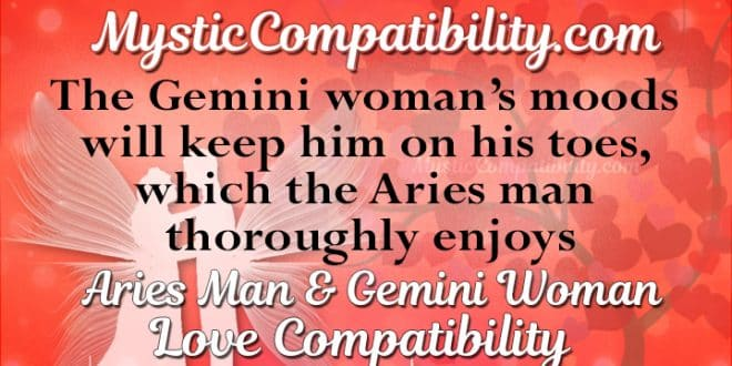 Is Gemini Woman Compatible With Aries Man