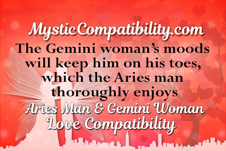 Aries man and gemini woman compatibility chart