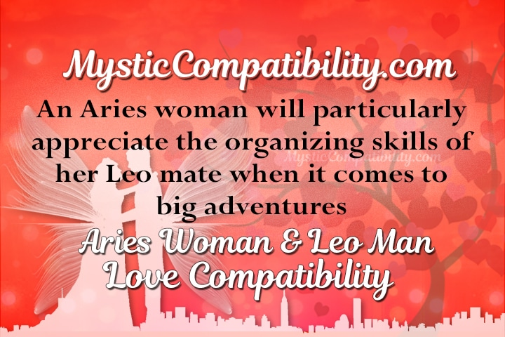 Leo man sexual compatibility with aries woman