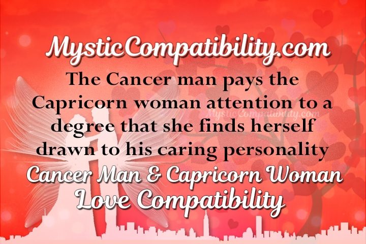 Cancer man capricorn woman compatibility