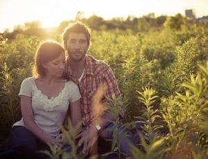 couple enjoying nature