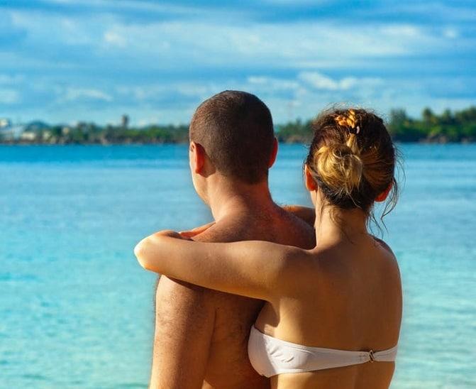 couple in beach