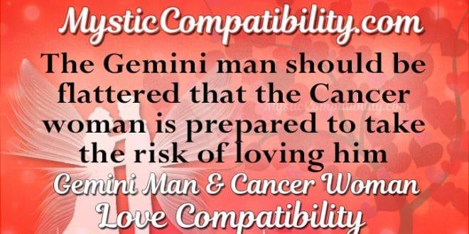 Gemini Man Cancer Woman Compatibility Mystic Compatibility