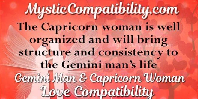 Gemini Man And Capricorn Woman Love Compatibility