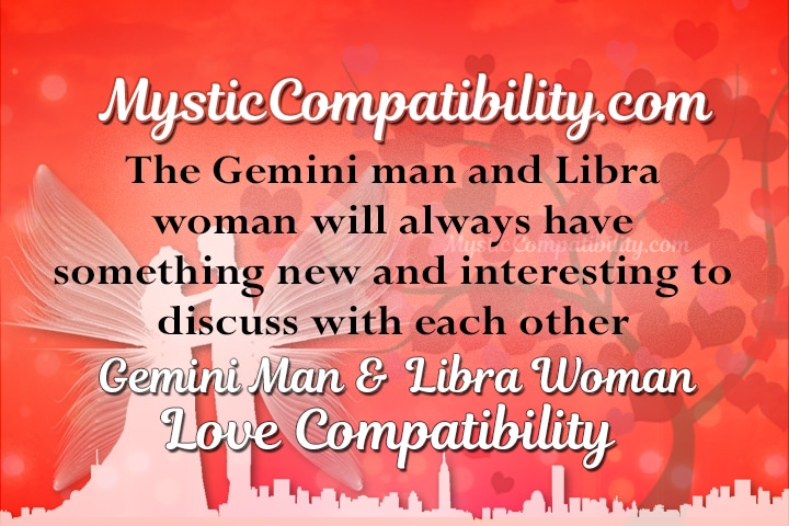 Libra woman with gemini man