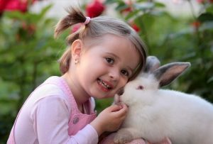 kid With rabbit
