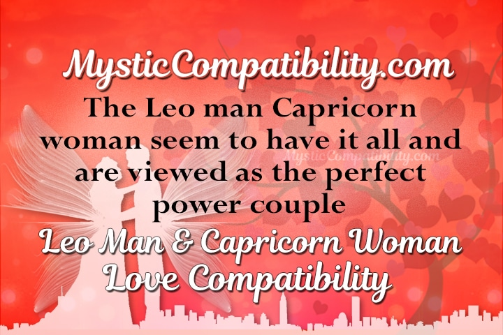 Leo man and capricorn woman marriage compatibility