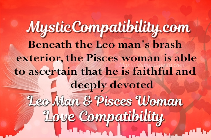 Pisces woman leo man sexually