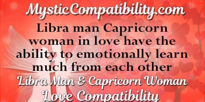 Libra Man Capricorn Woman Compatibility Mystic Compatibility
