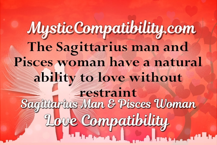 Sagittarius male pisces female