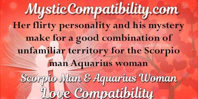Scorpio Man Aquarius Woman Compatibility Mystic Compatibility