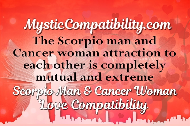 Scorpio male cancer female attraction