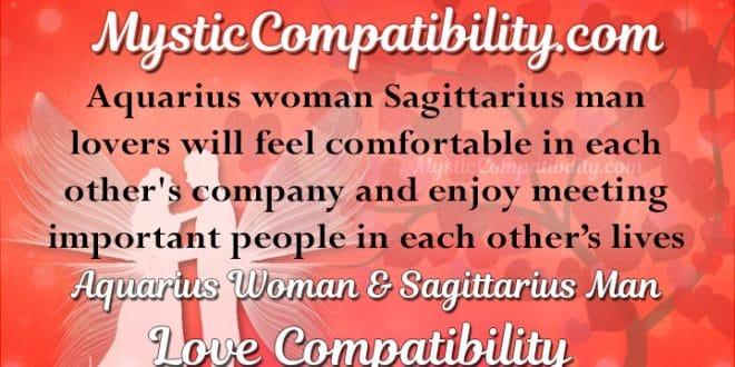 Aquarius Woman Sagittarius Man Compatibility Mystic Compatibility