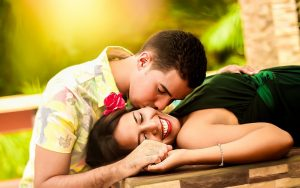 man kissing woman passionately