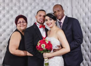 newly weds with parents