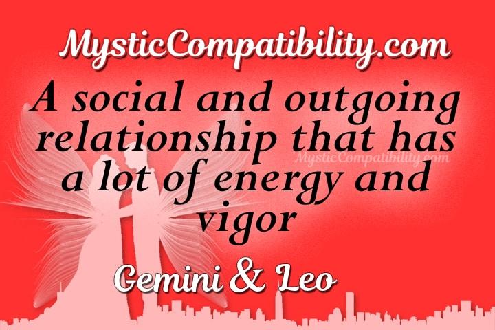 Gemini Leo Compatibility
