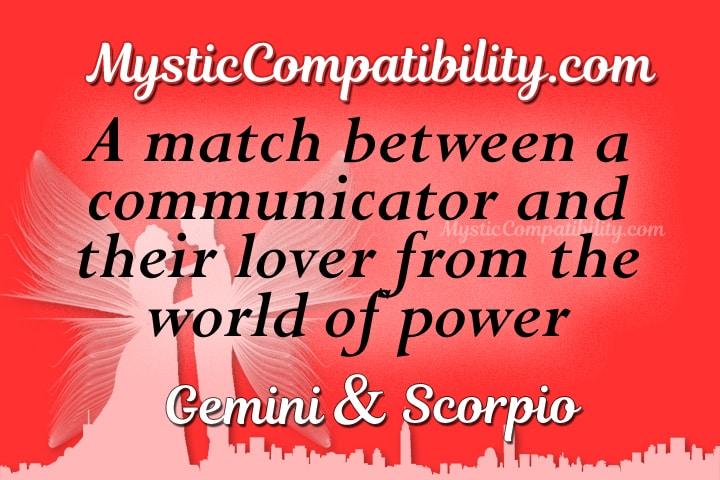 Gemini Scorpio Compatibility