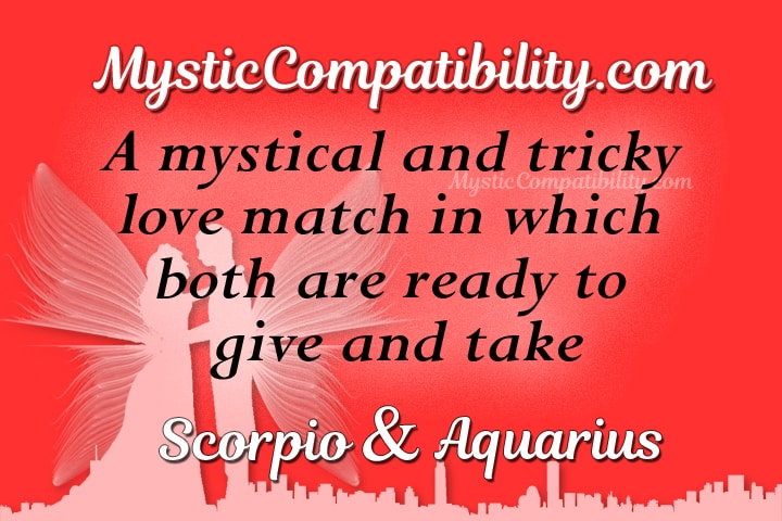 Aquarius scorpio sex