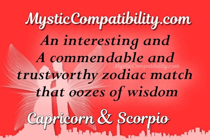 Capricorn Scorpio Compatibility