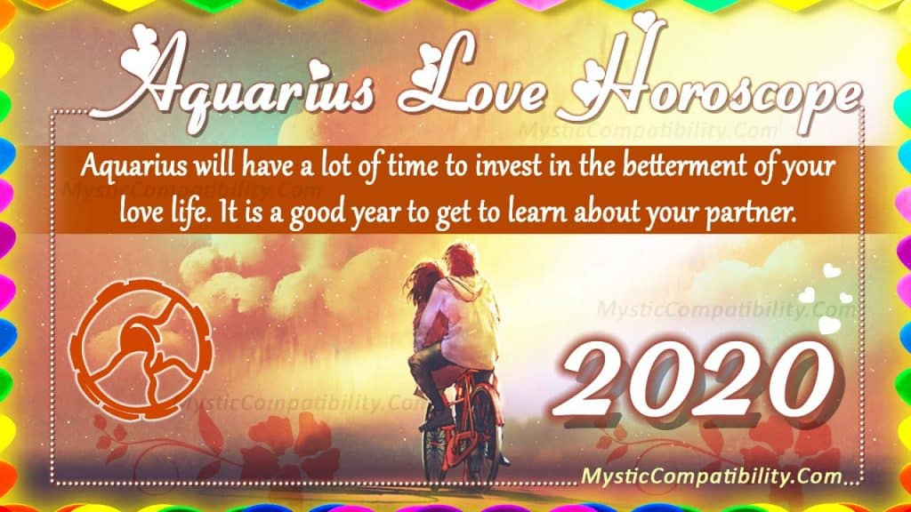 Aquarius Love Horoscope 2020 - Love & Relationship Predictions